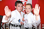 James (12) and Niamh (9) Collins Killarney who have received their Black Belts for White Lightening Karate    Copyright Kerry's Eye 2008