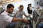 Institute of Industrial Technology - Students - 27 October 2013 - Tripoli - Libya --  Current students at the Institute of Industrial Technology in Tripoli's Injila district, get to grips with the machinery in one of the institute's laboratories - PHOTO: Iason ATHANASIADIS / EUP-IMAGES