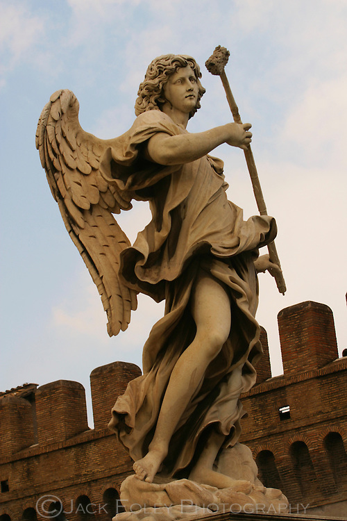 Angel sculpture at the Castel San Angelo, Rome, Italy