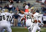 UC Davis quarterback Ben Scott passes against Nevada during an NCAA college football game in Reno, Nev. on Thursday, Sept. 3, 2015. (AP Photo/Cathleen Allison)
