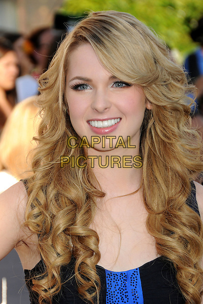 "KIRSTEN PROUT .""The Twilight Saga: Eclipse"" Los Angeles Premiere at the 2010 Los Angeles Film Festival held at Nokia Theatre LA Live, Los Angeles, California, USA, 24th June 2010..portrait headshot fringe curly  black blue .CAP/ADM/BP.©Byron Purvis/AdMedia/Capital Pictures."