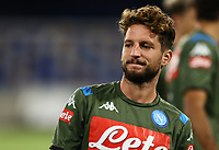 25th July 2020; Stadio San Paolo, Naples, Campania, Italy; Serie A Football, Napoli versus Sassuolo; Dries Mertens of Napoli pre-game warm up