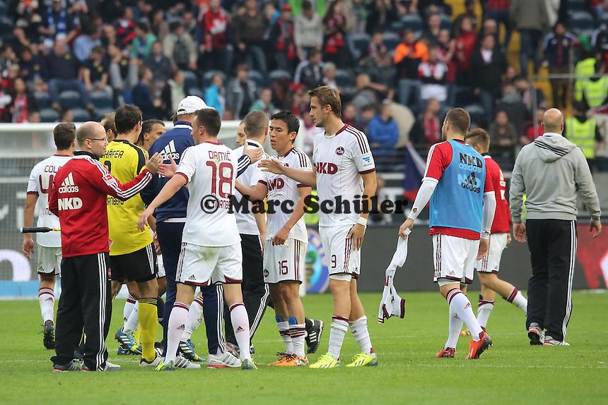 Jubel beim 1. FC Nürnberg - Eintracht Frankfurt vs. 1. FC Nuernberg,