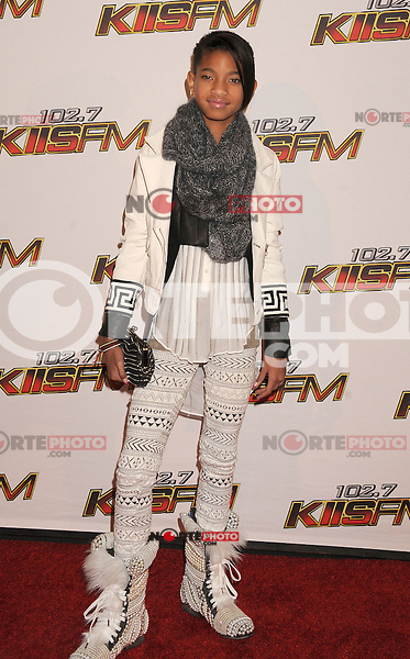 LOS ANGELES, CA - DECEMBER 03: Willow Smith attends 102.7 KIIS FM's Jingle Ball at the Nokia Theatre L.A. Live on December 3, 2011 in Los Angeles, California.