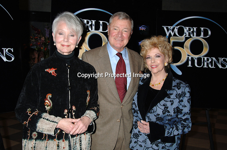 "Kathryn Hays, Don Hastings and Eileen Fulton ..at The 50th  Anniversary Party for ""As The World Turns""..on March 23, 2006 at The Museum of Television  and Radio...Robin Platzer, Twin Images"