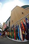 General view,<br /> AUGUST 22, 2013 - Baseball :<br /> School flags of past champions are displayed outside Koshien Stadium before the 95th National High School Baseball Championship Tournament final game between Maebashi Ikuei 4-3 Nobeoka Gakuen in Hyogo, Japan. (Photo by Katsuro Okazawa/AFLO)