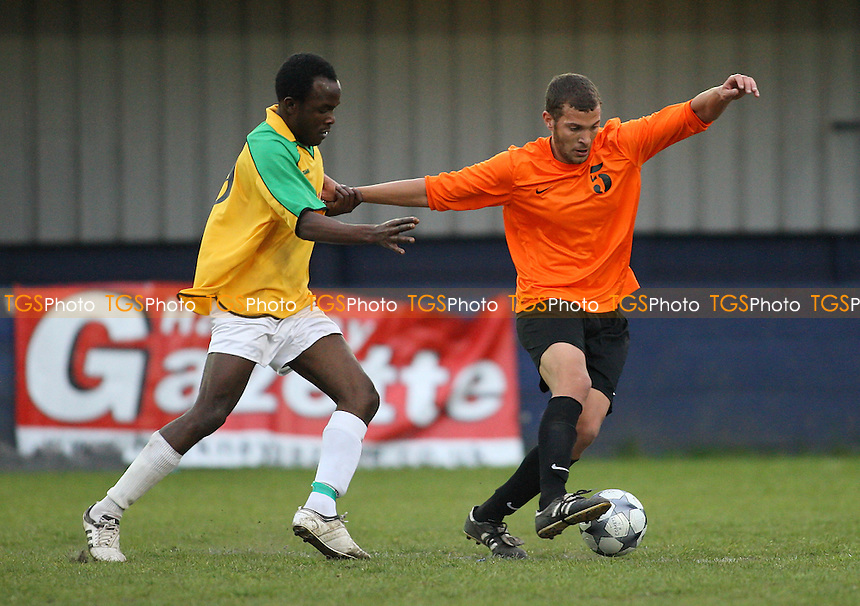 Bancroft United (yellow) vs Comet - Hackney & Leyton League Hackney Gazette Cup Final at Leyton FC - 07/05/10 - MANDATORY CREDIT: Gavin Ellis/TGSPHOTO - Self billing applies where appropriate - Tel: 0845 094 6026