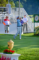 Harold Varner III (USA) on the 1st tee during the first round of the WGC Bridgestone Invitational, Firestone country club, Akron, Ohio, USA. 03/08/2017.<br /> Picture Ken Murray / Golffile.ie<br /> <br /> All photo usage must carry mandatory copyright credit (&copy; Golffile | Ken Murray)