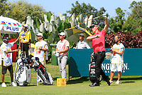 Morten Orum Madsen (Den) on the 12th tee green during Round 3 of the Maybank Malaysian Open at the Kuala Lumpur Golf & Country Club on Saturday 7th February 2015.<br /> Picture:  Thos Caffrey / www.golffile.ie