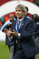 Manuel Pellegrini (Manager) of Manchester City after the Capital One Cup match between Liverpool and Manchester City at Wembley Stadium, London, England on 28 February 2016. Photo by David Horn / PRiME Media Images.