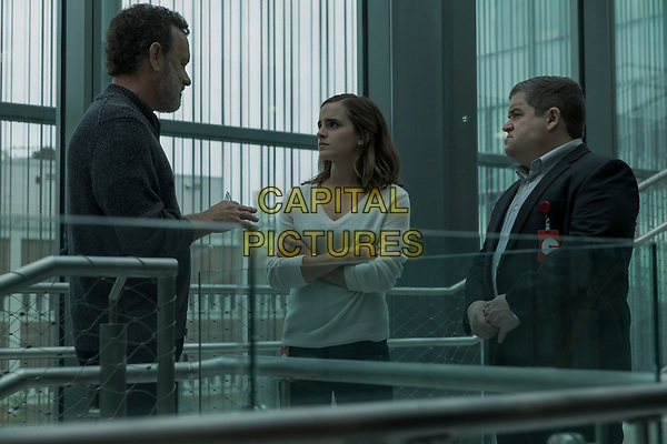 The Circle (2017)<br /> Tom Hanks, Emma Watson and Patton Oswalt <br /> *Filmstill - Editorial Use Only*<br /> CAP/KFS<br /> Image supplied by Capital Pictures