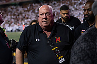 College Park, MD - SEPT 27, 2019: Former Maryland Terrapins head coach Ralph Friedgen being recognized during game between Maryland and Penn State at Capital One Field at Maryland Stadium in College Park, MD. (Photo by Phil Peters/Media Images International)