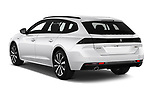 Car pictures of rear three quarter view of a 2019 Peugeot 508 GT-Line 5 Door Wagon angular rear