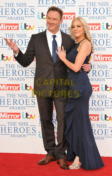 Russell Watson and Louise Harris at the NHS Heroes Awards 2018, London Hilton on Park Lane Hotel, Park Lane, London, England, UK, on Monday 14 May 2018.<br /> CAP/CAN<br /> &copy;CAN/Capital Pictures