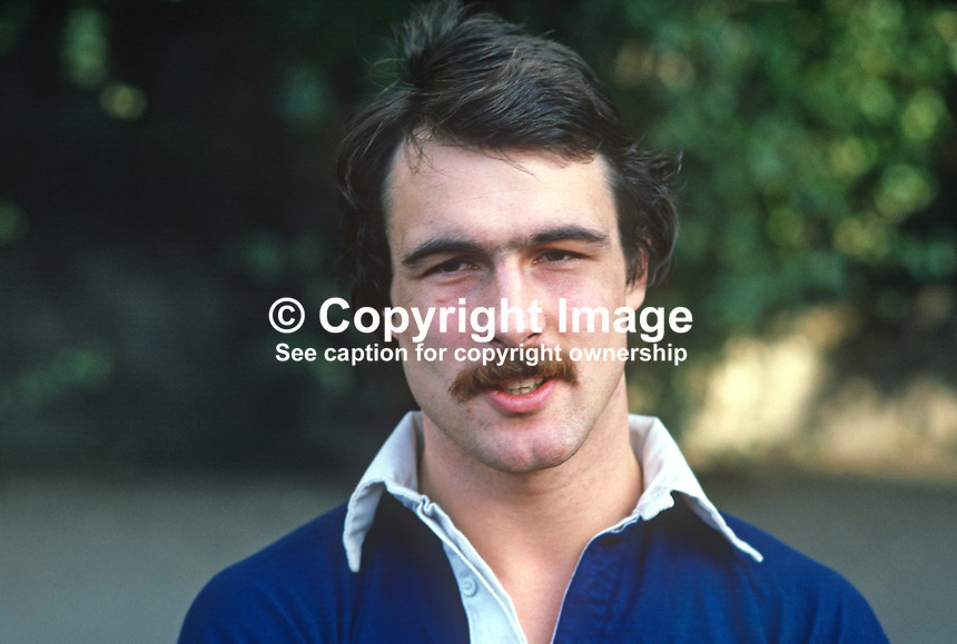 Michael Gibson, rugby player, Lansdowne & Ireland, January 1981, 198101240002s..Copyright Image from Victor Patterson, 54 Dorchester Park, Belfast, United Kingdom, UK...For my Terms and Conditions of Use go to http://www.victorpatterson.com/Victor_Patterson/Terms_%26_Conditions.html