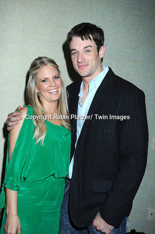"""Terri Conn and Tom Degnan posing for photographers at The ABC Daytime Salutes Broadway Cares/ Equity Fights Aids """" An Evening of Musical Entertainment and Comedy""""  Benefit after party  on March 13, 2011 at the Marriott Marquis Hotel in New York City."""