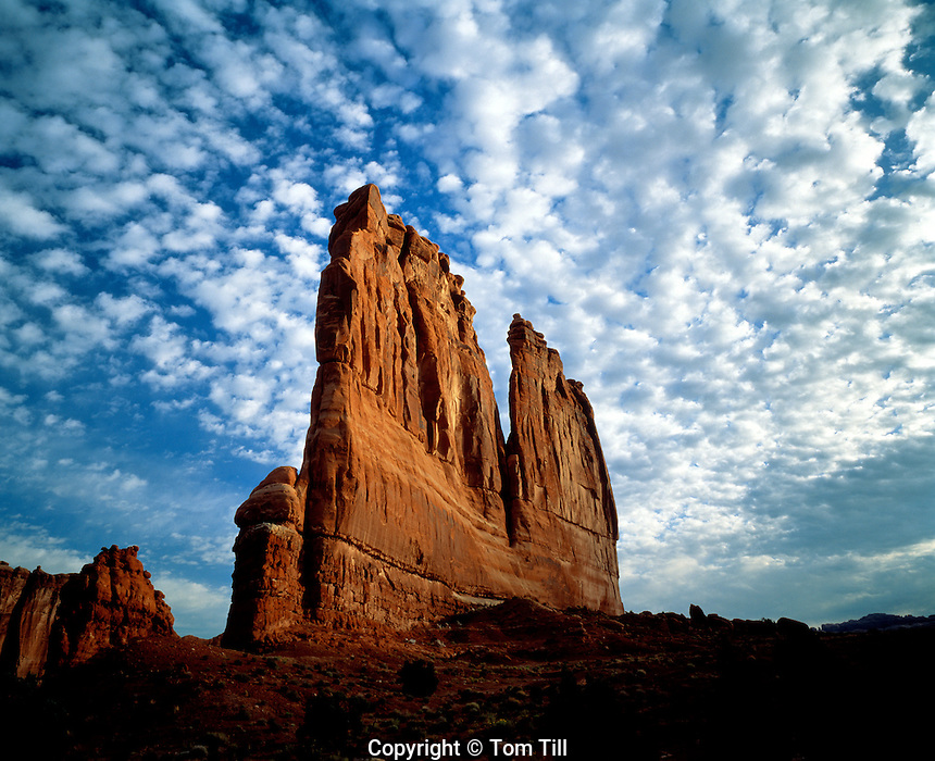 Courthouse Towers at Dawn, Arches National Park, Utah