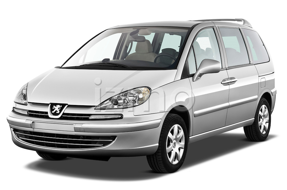 Front three quarter view of a 2011 Peugeot 807 SV Executive Minivan Stock Photo