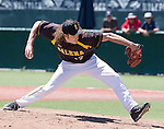 Galena pitcher Kurt Young throws in the NIAA Division I Northern Region Baseball Championship between the Galena Grizzlies and the Reno Huskies played on Saturday, May 14, 2016 at Peccole Park in Reno, Nevada.
