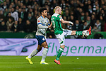 08.03.2019, Weserstadion, Bremen, GER, 1.FBL, Werder Bremen vs FC Schalke 04<br /> <br /> DFL REGULATIONS PROHIBIT ANY USE OF PHOTOGRAPHS AS IMAGE SEQUENCES AND/OR QUASI-VIDEO.<br /> <br /> im Bild / picture shows<br /> Weston McKennie (FC Schalke 04 #2), Davy Klaassen (Werder Bremen #30), <br /> <br /> Foto &copy; nordphoto / Ewert
