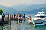 Ferry boat stop at Stressa on Lake Maggiore, Italy