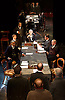 Strife <br /> by John Galsworthy<br /> directed by Bertie Carvel <br /> at Minerva theatre, Chichester, London, Great Britain <br /> Press photocall <br /> 16th August 2016 <br /> William Gaunt as John Anthony,  Ian Hughes as David Roberts and members of the company<br /> <br /> Photograph by Elliott Franks <br /> Image licensed to Elliott Franks Photography Services