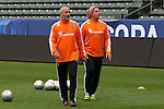 30 November 2012: Houston head coach Dominic Kinnear (SCO) (left) with assistant coach Tim Hanley. The Houston Dynamo practiced at the Home Depot Center in Carson, California in preparation for playing the Los Angeles Galaxy in MLS Cup 2012.