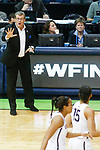 DALLAS, TX - MARCH 31: Head coach Geno Auriemma of the Connecticut Huskies calls an adjustment to Gabby Williams #15 of the Connecticut Huskies during the 2017 Women's Final Four at American Airlines Center on March 31, 2017 in Dallas, Texas. (Photo by Tim Nwachukwu/NCAA Photos via Getty Images)