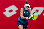 Jennifer Brady of the United States competes against Luksika Kumkhum of Thailand during the singles first round match at the WTA Prudential Hong Kong Tennis Open 2018 at the Victoria Park Tennis Stadium on 08 October 2018 in Hong Kong, Hong Kong. Photo by Yu Chun Christopher Wong / Power Sport Images
