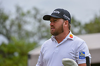 Graeme McDowell (NIR) prepares chats on the tee on 1 during day 4 of the Valero Texas Open, at the TPC San Antonio Oaks Course, San Antonio, Texas, USA. 4/7/2019.<br /> Picture: Golffile | Ken Murray<br /> <br /> <br /> All photo usage must carry mandatory copyright credit (© Golffile | Ken Murray)