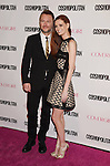 WEST HOLLYWOOD, CA - OCTOBER 12: TV personality Chris Hardwick (L) and actress/model Lydia Hearst arrive at Cosmopolitan Magazine's 50th Birthday Celebration at Ysabel on October 12, 2015 in West Hollywood, California.