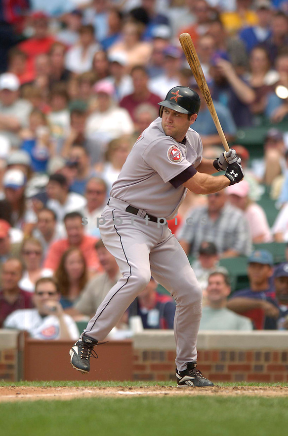 Lance Berkman, of the Houston Astros, during their game against the Chicago Cubs on June 15, 2006 in Chicago...Astros win 3-2..David Durochik / SportPics