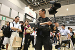 June 29, 2010 - Tokyo, Japan - A cameraman holds a steady cam during the PHOTONEXT 2010 at Tokyo Big Sight, Japan, on June 29, 2010. The annual two day event covers all areas of photo and imaging, targets all professionals and businesses in photography and hosts nearly 300 exhibit booths, exhibiting a variety of products including cameras, tripods, effect lamps, reflectors, DOF adapter and other professional photo and video accessories. Over 24,000 visitors are expected.
