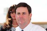 Phoenix,Arizona -- Arizona Governor Doug Ducey speaks during a press conference at the Martin Luther King Jr. Early Childhood Center in Phoenix, Arizona. He  delivered remarks on access to high-quality early learning programs. Photo by Eduardo Barraza © 2015