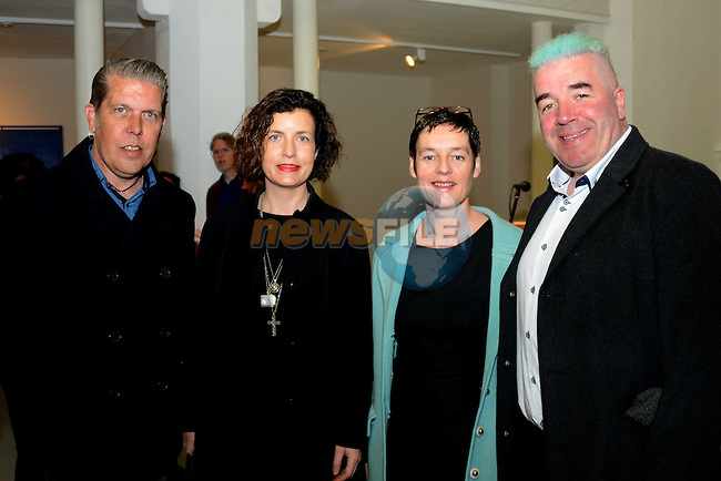 At the launch of the Drogheda Arts Festival were (from left) Bobby Walsh, Amanda Jane Graham, Colette Farrell and Kieran Gallagher.