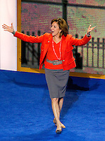 Sen. Kay Hagan (D-NC) comes on stage at the 2012 Democratic National Convention in Times Warner Cable Arena