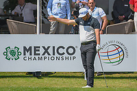 Jon Rahm (ESP) signals his tee shot is headed to the right on 10 during round 1 of the World Golf Championships, Mexico, Club De Golf Chapultepec, Mexico City, Mexico. 3/1/2018.<br /> Picture: Golffile | Ken Murray<br /> <br /> <br /> All photo usage must carry mandatory copyright credit (&copy; Golffile | Ken Murray)