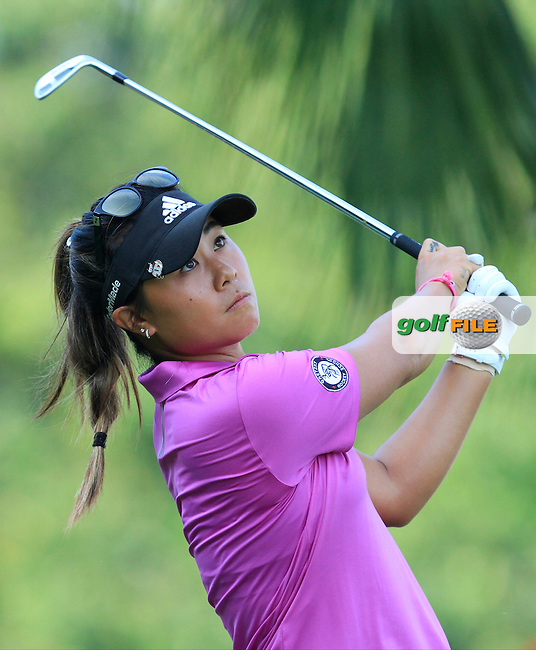 Danielle Kang (USA) on the 2nd tee during Round 4 of the HSBC Women's Champions at the Sentosa Golf Club, The Serapong Course in Singapore on Sunday 8th March 2015.<br /> Picture:  Thos Caffrey / www.golffile.ie