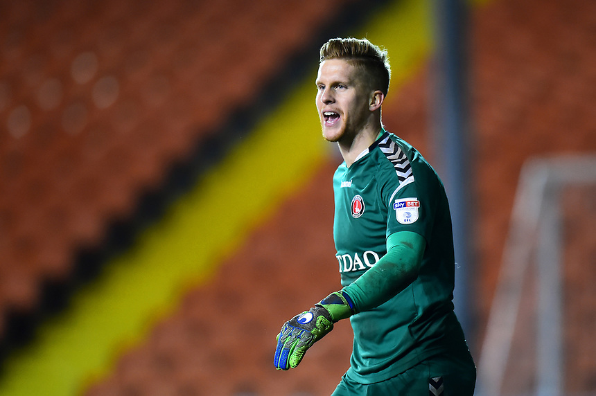 Charlton Athletic's Ben Amos looks on<br /> <br /> Photographer Richard Martin-Roberts/CameraSport<br /> <br /> The EFL Sky Bet League One - Blackpool v Charlton Athletic - Tuesday 13th March 2018 - Bloomfield Road - Blackpool<br /> <br /> World Copyright &copy; 2018 CameraSport. All rights reserved. 43 Linden Ave. Countesthorpe. Leicester. England. LE8 5PG - Tel: +44 (0) 116 277 4147 - admin@camerasport.com - www.camerasport.com