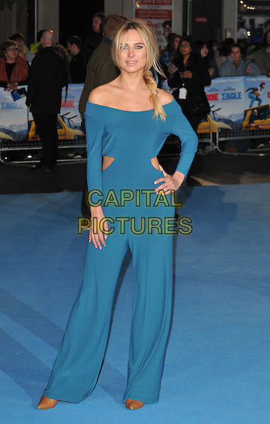 Kimberley Garner attends the &quot;Eddie The Eagle&quot; European film premiere, Odeon Leicester Square cinema, Leicester Square, London, UK, on Thursday 17 March 2016.<br /> CAP/CAN<br /> &copy;Can Nguyen/Capital Pictures