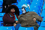 3rd December 2017, Etihad Stadium, Manchester, England; EPL Premier League football, Manchester City versus West Ham United; Two West Ham fans wrap up before kickoff