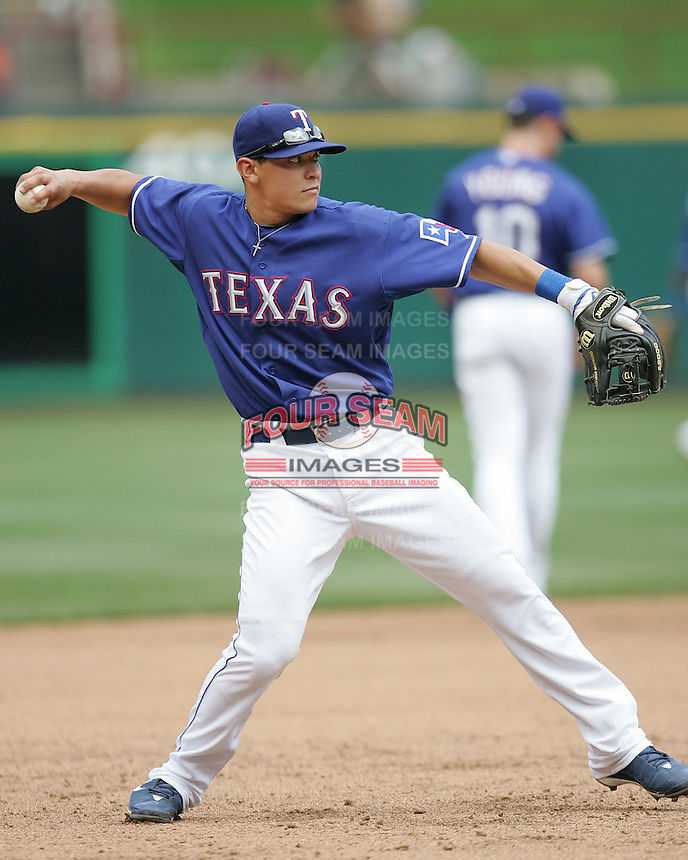 Texas Rangers 3B German Duran against the Seattle Mariners on May 14th, 2008 at Texas Rangers Ball Park in Arlington, Texas. Photo by Andrew Woolley .