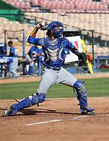 Diego Cartaya participates in the MLB International Showcase at Estadio Quisqeya on February 22-23, 2017 in Santo Domingo, Dominican Republic.