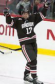 Zack Pryzbek (Brown - 17) - The Harvard University Crimson defeated the visiting Brown University Brown Bears 5-2 (EN) on Saturday, November 7, 2015, at Bright-Landry Center in Boston, Massachusetts.