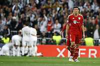 25.04.2012 Madrid Spain, UEFA Champions League Semi Final 2nd leg  Real Madrid vs Bayern Munchen. Picture show Mario Gomez (Forwards Bayern Munchen)