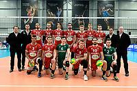 GRONINGEN - Volleybal, Abiant Lycurgus - Noriko Maaseik, Alfa College , Champions League , seizoen 2017-2018, 08-11-2017 team Maaseik