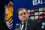 Real Sociedad's President Jokin Aperribay in press conference.November 20,2013. (ALTERPHOTOS/Acero)