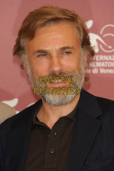 Christoph Waltz .Attending the 'Carnage' photocall at the Palazzo del Casino during the 68th Venice Film Festival, Venice, Italy, September 1st 2011..portrait headshot beard facial hair blue brown shirt navy .CAP/PL.©Phil Loftus/Capital Pictures.