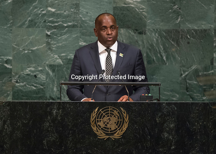 72 General Debate – 23rd of September  2017<br /> <br /> Her Excellency Roosevelt<br /> SKERRIT<br /> Prime Minister and Minister for Finance<br /> and Public Service of the<br /> COMMONWEALTH OF DOMiNICA