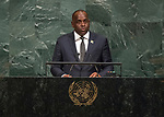 72 General Debate &ndash; 23rd of September  2017<br /> <br /> Her Excellency Roosevelt<br /> SKERRIT<br /> Prime Minister and Minister for Finance<br /> and Public Service of the<br /> COMMONWEALTH OF DOMiNICA